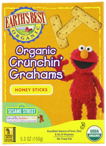 Buy Earth's Best Organic Sesame Street Crunchin' Grahams, Honey Sticks, 5.3-Ounce Boxes (Pack of 6) Guides