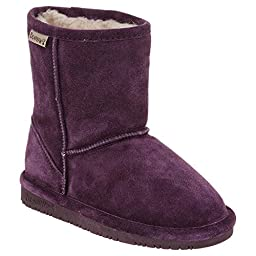 Bearpaw Girl\'s Emma Youth 6.5\'\' Snow Boots, Purple Suede, Rubber, 4 Big Kid M