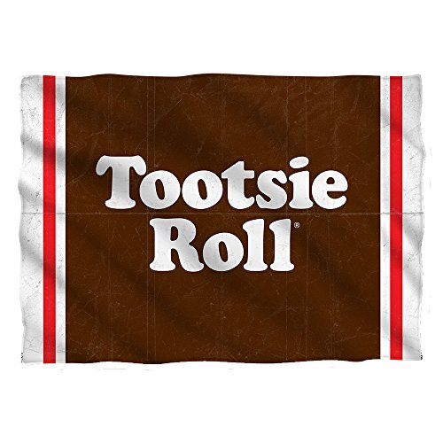 Tootsie Roll Wrapper (Front Back Print) Pillow Case White One Size