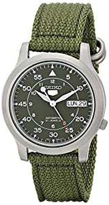 Seiko Mens Automatic 21 Jewels Automatic Military Style Timepiece (SNK805)