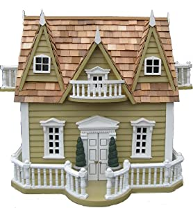 "Bird House - Le Chateau (Yellow/Red Cedar) (14.5""H x 14""W x 10""D)"