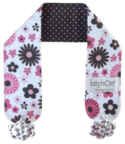 LatchON Pink Flower Cotton Nursing Blanket Strap