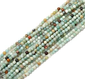 4mm Round Amazonite Stone Gemstone Beads Strand 15