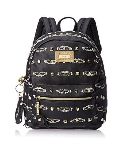 Betsey Johnson Women's Studded Signature Mini Backpack, Black