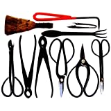 Stanwood Bonsai Tool 10-Piece Carbon Steel Shear Set and Tool Kit