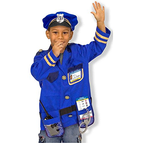Police Officer Kids Costume - 3-6 Years