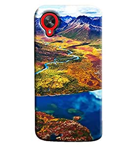 Clarks Mountain Landscape Hard Plastic Printed Back Cover/Case For LG Google Nexus 5