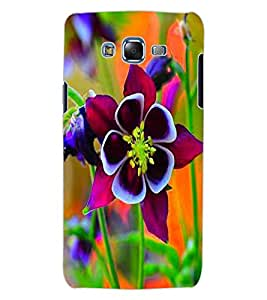ColourCraft Beautiful Flower Design Back Case Cover for SAMSUNG GALAXY J7