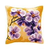 Vervaco Orchid 1 Cross Stitch Cushion Multi Colour