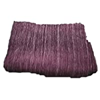 Super Soft Alpaca Wool Reversible Throw Blanket Luscious Dark Purple Color Cream Features