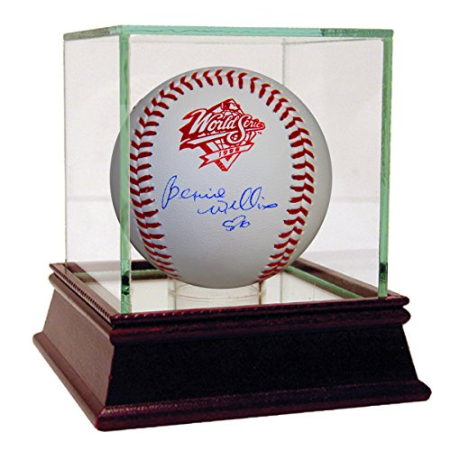 Bernie Williams Signed 1998 World Series Baseball (Mlb Auth) front-863401