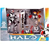 Halo 2009 McFarlane Toys Deluxe Action Figure Boxed Set Rogue Armor Pack WHITE Spartan Soldier Rogue, CQB, Scout & Hayabusa