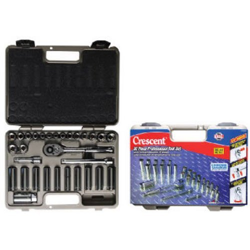 Crescent-CTK30SET-12-Point-Fractional-Metric-Standard-and-Deep-Socket-Set-with-Case-30-Piece
