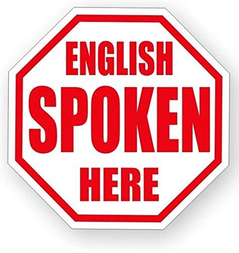 1 Pcs Consummate Popular English Spoken Here Vinyl Sticker Signs Speak American Hard Hat Stick Construction Work Size 2