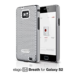 elago S4 BREATHE Case for Galaxy S2 (European/Asian version only) - Silver