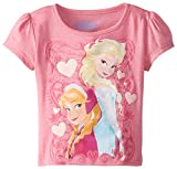 Extreme Concepts Little Girls' Disney Frozen Sisters Puff Sleeve Tee