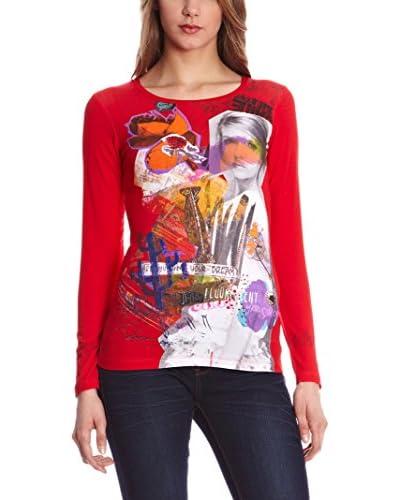 SIDECAR Camiseta Manga Larga Irune Rojo S