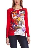 SIDECAR Camiseta Manga Larga Irune (Rojo)