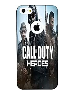 Snazzy Call Of Duty Printed Blue Hard Back Cover For Apple Iphone 5/5S