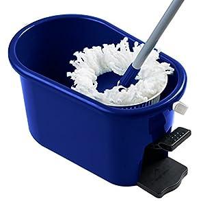 MopAway Dry/Wet Microfiber Super Absorbent Floor Mop with Bucket, Blue