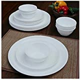 Famacart Unbreakable White Dinner Set Dining Table Dinner Set Plates Bowls 18 Pcs