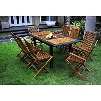muebles de madera de teca y resina de mesa y sillas de jardn personas