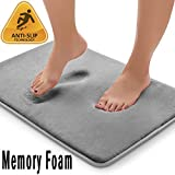 20x32 Memory Foam Bath Mat, Ultra Soft Anti Slip Bath Rug with Strong Absorbent, Machine Washable Shower Rug, Perfect Plush Bathroom Mat for Tub, Shower and Bathroom (Gray) (Color: Gray, Tamaño: 20*32)