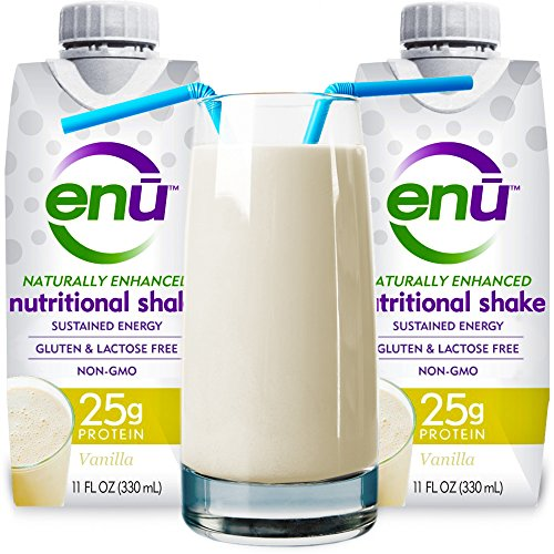 Enu Protein Shake / Meal Replacement Drink. Tastes Great. Maximum Protein And Calorie Supplement To Help Ensure Muscle Mass & Maintain Orgain Weight. Complex Carbs & Healthy Fats For Energy. 24 Vitamins & Minerals. Best Nutrition Recovery Drink. Naturally