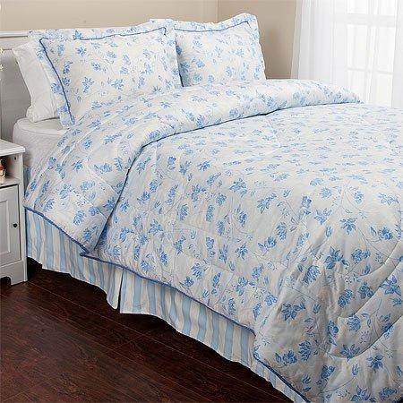Eileen West Tranquil Blue Comforter Set, King