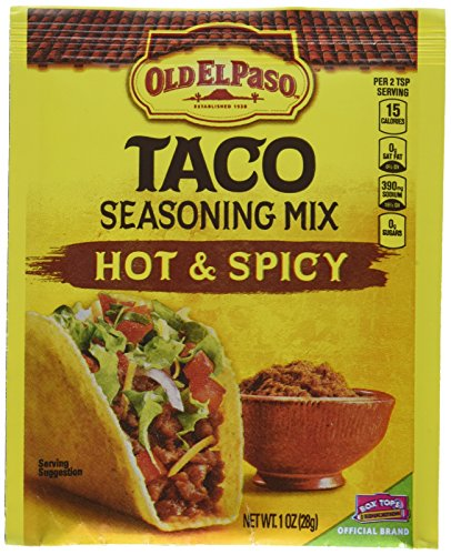 Old El Paso Hot & Spicy Taco Seasoning Mix, 1 oz, 32 Pack (Old El Paso Taco Seasoning compare prices)