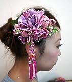 卒業式 成人式 髪飾り コサージュ 花飾り ヘアーアクセサリー 帯飾り  振袖 袴  手作り cs0370