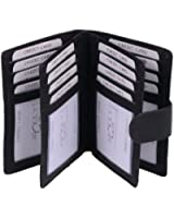Porte-cartes LEAS en cuir véritable, noir - ''LEAS Card-Collection''