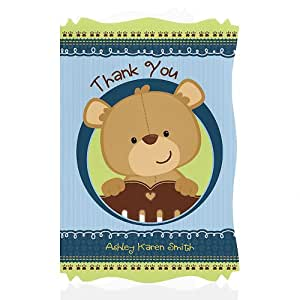 baby shower thank you cards baby boy teddy bear toys