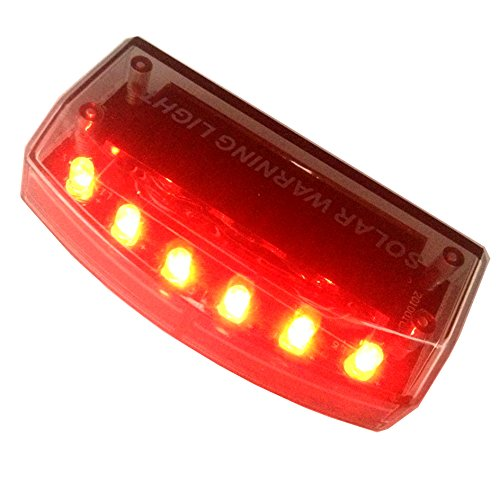 Sunnytech® 1pc Solar Car Burglar Alarm 6LED Flashing Anti-theft Warning RED Light GSPX D141 (Red) (Security Light For Car compare prices)