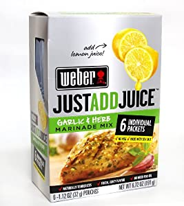 Weber Just Add Juice Garlic and Herb Marinade Mix 6 pk.