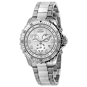 Invicta Men's 6620 II Collection Chronograph Stainless Steel White Dial Watch