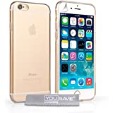 Yousave Accessories iPhone 6 Case Clear Silicone Gel Cover