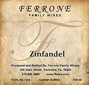 NV Ferrone Family Winery White Zinfandel 750 mL