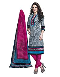 Vaamsi Women's Salwar Suit Dress Material (Cocp36_Grey_Free Size)