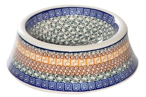 Polish Pottery Athena Dog Bowl
