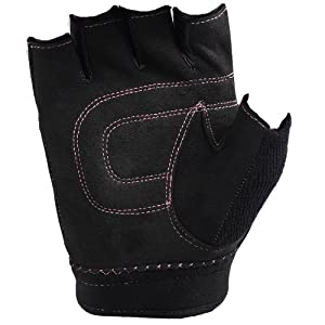 Saranac b-grl Women's Core Fitness Glove (Black and Pink, Large)