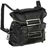 AmeriLeather Rococo Leather Handbag / Backpack (Black), Bags Central