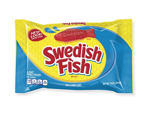 Swedish fish soft chewy candy original 14 ounce bag for Swedish fish amazon
