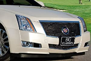 E&G CLASSIC 08 THRU 13 CADILLAC CTS HEAVY MESH 2PC GRILLE BLACK ICE