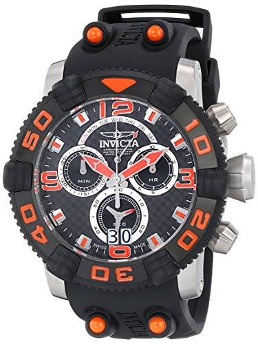 Invicta Men'S 12257 Sea Hunter Analog Display Swiss Quartz Black Watch