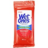 Wet Ones Antibacterial Hand Wipes Travel Pack, 15-Count (Colors May Vary)