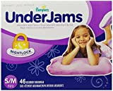 Pampers UnderJams Absorbent Nightwear Size 7, Big Pack Girl, 46 Count