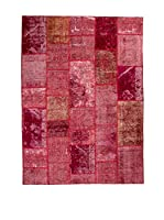 CarpeTrade Alfombra Vintage Persian Collage (Rojo)