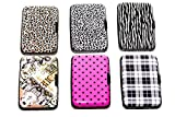 Aluminum Wallets - Credit Card Aluma Wallets With RFID Protection (Printed Designs) - 6 Pack