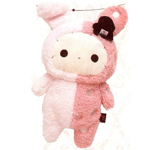 "Original San-x Character 10"" Tall Sentimental Circus Rabbit Plush Doll"